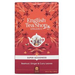 Herbatka ziołowa z burakiem, marchwią, imbirem, liśćmi curry i pietruszką 20x1,5 g BIO 30 g English Tea Shop