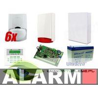 Zestawy alarmowe, Zestaw alarmowy SATEL Integra 32 LCD, 6 czujek, sygnalizator zewnętrzny