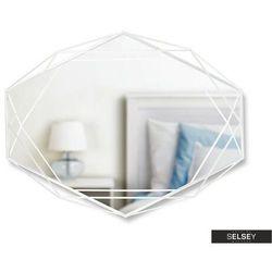 SELSEY Lustro Lorrainio z białą geometryczną ramą