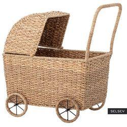 SELSEY Wózek dla lalek Broderick z trawy bankuan