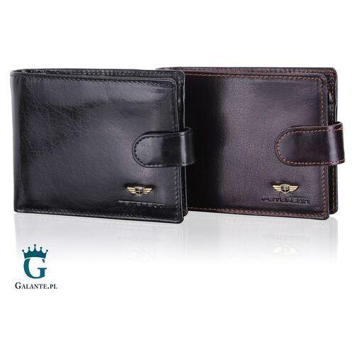 Portfele i portmonetki, Męski Portfel PETERSON z RFID na zatrzask 334