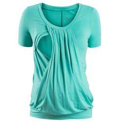 Shirt ciążowy i do karmienia, krótki rękaw bonprix zielony oceaniczny