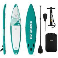 Pozostałe sporty wodne, Gymrex Deska SUP - dmuchana - Adventure Line - 120 kg GR-SPB370 - 3 LATA GWARANCJI