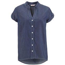 Koszula dżinsowa z krótkim rękawem bonprix ciemnoniebieski