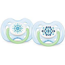 2x AVENT niebieski smoczek sensitive Fantazie (silikonowy) 0-6 miesięcy