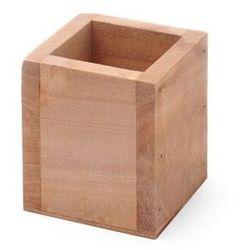 Pojemnik na sztućce drewniany 8x8x9.5 cm