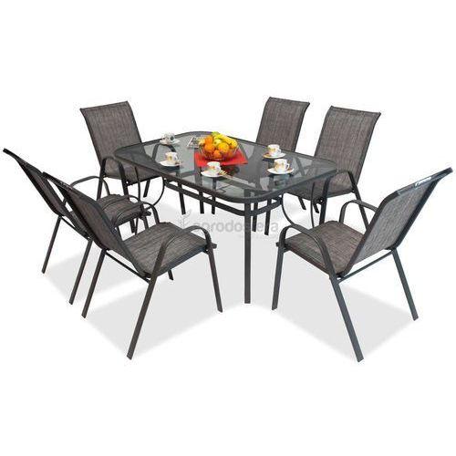 Zestawy ogrodowe, Meble stołowe do ogrodu Modena Szary dla 6 osób Garden Point