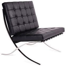 Fotel BARCELON skóra T03-1.BLACK - King Home - Sprawdź kupon rabatowy w koszyku