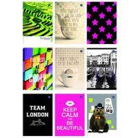 Zeszyty, Brulion A4 kratka 160 kartek, losowy wzór okładki - X04584