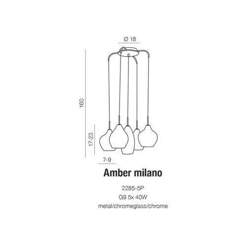 Lampy sufitowe, Lampa Amber Milano