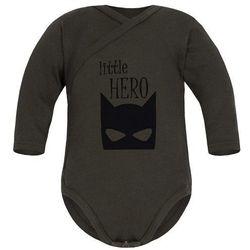 Niemowlęce body KOPERTOWE długi rękaw Khaki - Little Hero