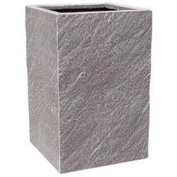 Donica kompozytowa Cermax kwadrat 30 x 30 x 47 cm ciemny grafit