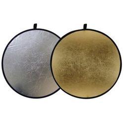 Blenda okrągła 2w1 złoto-srebrna 60cm
