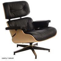 Fotele, Czarny fotel VIP ze standardową bazą
