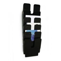 Zestaw sześciu pionowych pojemników Durable FLEXIPLUS A4 czarny 1700008061