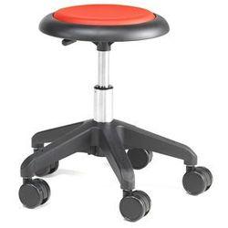 Krzesło na kółkach MICRO, czerwony, 380-450 mm