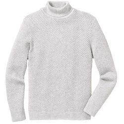 Sweter z golfem Regular Fit bonprix naturalny melanż