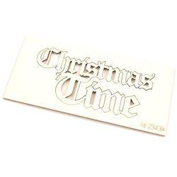 Świąteczny napis Christmas Time - 3x6 cm - 02
