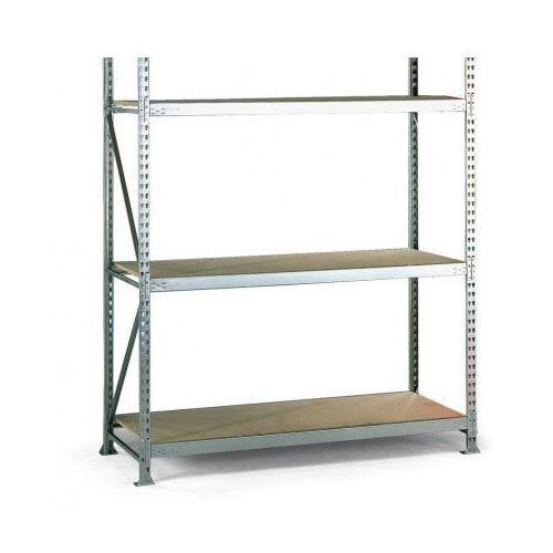 Regały warsztatowe, Regał półkowy, nośność 500 kg, 2500x2600x1050 mm, podstawowy