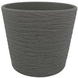 Osłonka doniczki Cermax 13 cm ciemny grafit struktura