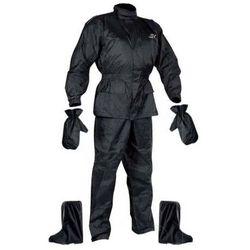 Zestaw przeciwdeszczowy kurtka / spodnie / rękawice / buty Nox, Czarny, M