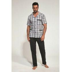 Cornette Rozpinana bawełniana piżama męska 318/37 grafitowa