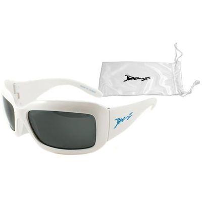Okulary przeciwsłoneczne dzieci 4 10lat UV400 BANZ Square TV White