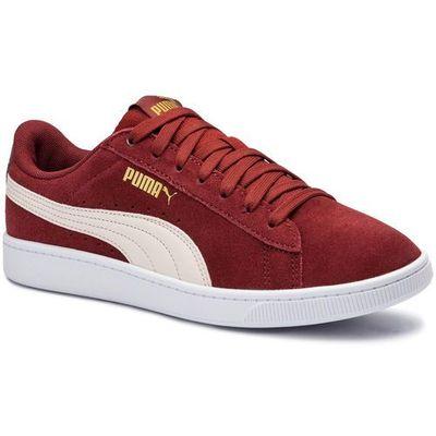 Sneakersy PUMA Vikky v2 369725 09 F BrickP ParchmentGoldWht, kolor czerwony
