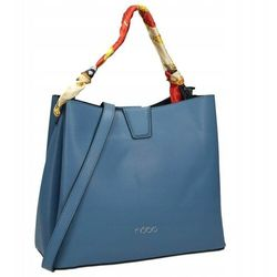 Torebka shopper bag z apaszką nobo niebieska 1970