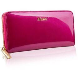 Różowy portfel damski skórzany marki Betlewski