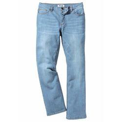 Dżinsy ze stretchem Slim Fit Bootcut bonprix jasnoniebieski denim, jeansy