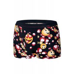 Bokserki męskie Cornette Emoticon 010/66 czarne, kolor czarny