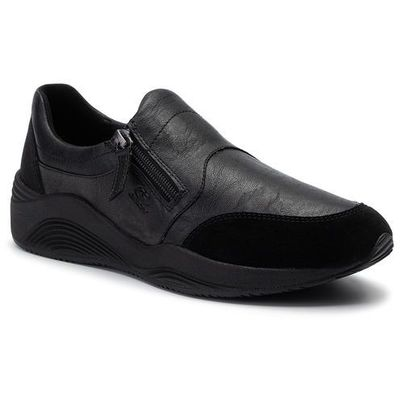 Sneakersy GEOX D Omaya A D940SA 0PV22 C9999 Black, kolor czarny