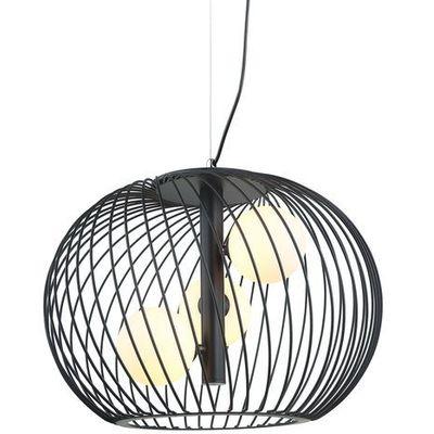 Lampa wisząca Clarisa MDM 3843 3 BK Italux Rabat w koszyku, MDM 3843 3 BK