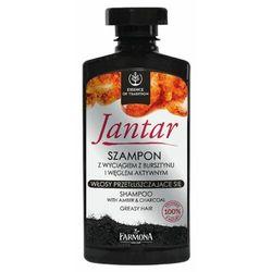 jantar szampon z wyciągiem z bursztynu i węglem aktywnym do włosów przetłuszczających się marki Farmona