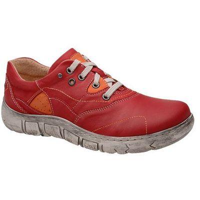5e8aa22430810 Kacper Półbuty 2-1185-181+178 czerwone damskie codzienne - czerwony