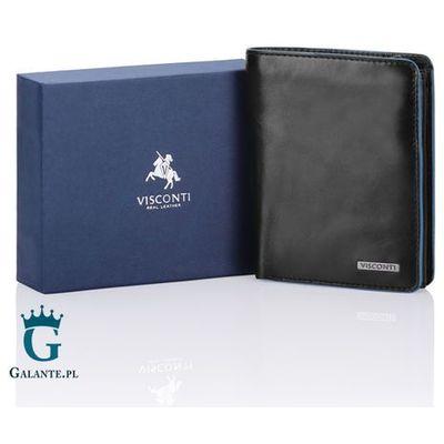 f08d62dfd0d16 Visconti Elegancki pionowy portfel męski ze skóry naturalnej alp-87 ralph  rfid