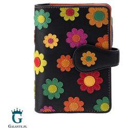 Duży portfel damski w kwiatki spanish marki Visconti