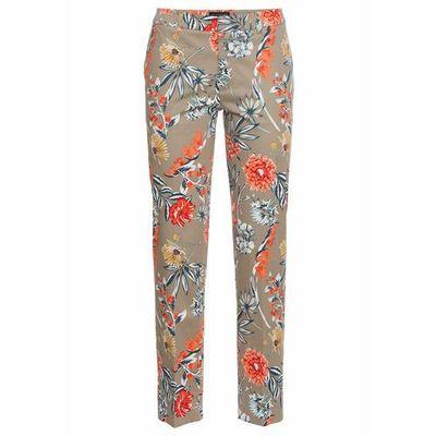 Spodnie ze stretchem 78, z nadrukiem bonprix khaki z nadrukiem, bawełna