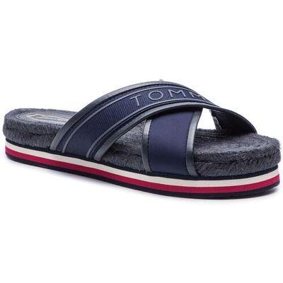 529ec81e920c4 Tommy hilfiger Espadryle - colorful tommy flat sandal fw0fw04159 midnight  403