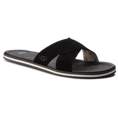 d349a7d0ee6b1 Klapki UGG - M Beach Slide 1020086 M/Blk, kolor czarny
