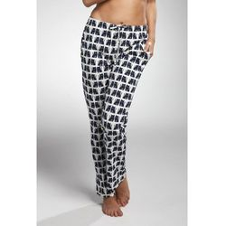 Bawełniane spodnie damskie do piżamy 690/11 szare marki Cornette