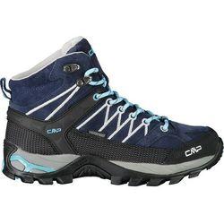 Cmp campagnolo rigel wp buty trekkingowe mid kobiety, niebieski/czarny eu 37 2021 trapery turystyczne