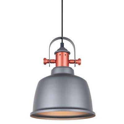 Italux Lampa wisząca treppo mdm 29871 gr zwis 1x60w e27 szara miedziana (5900644331759)