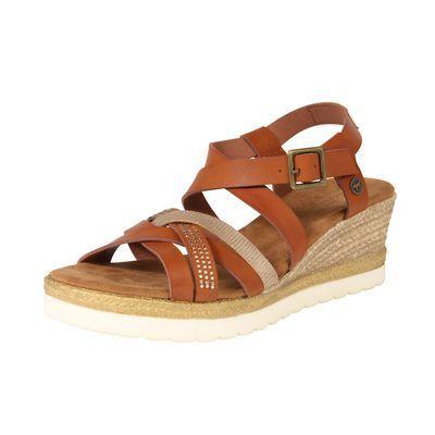 MUSTANG Sandały z rzemykami brązowy czerwony