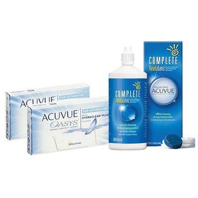 92b6adb1c1a5b2 Zestaw 2 x oasys for astigamtism oraz płyn complete revitalens 360 ml marki  Acuvue