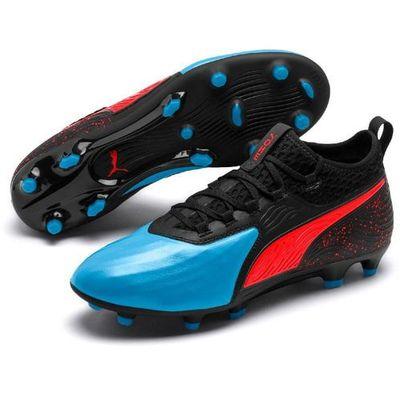 Puma buty piłkarskie męskie One 19.2 FgAg Czarno niebieskie 44 (4060978787231)