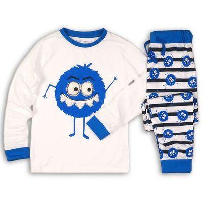 14cde4c67b46eb Minoti chłopięca piżama 104/110 biała/niebieska, kolor niebieski