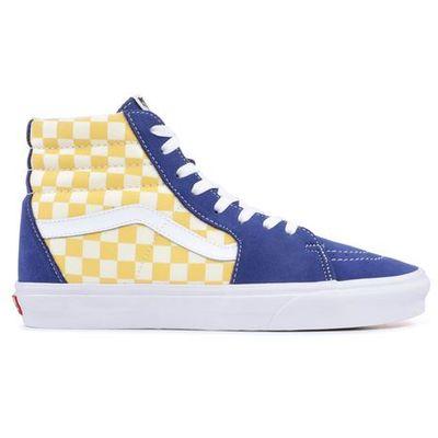 Nowe buty sk8 hi bmx checkerboard true blueyellow rozmiar 4227cm marki Vans