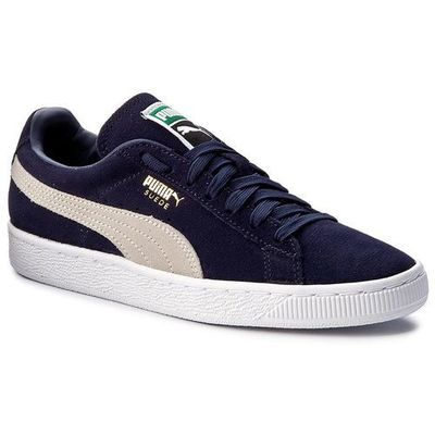 Sneakersy suede classic + 3565568 51 peacoatwhite marki Puma